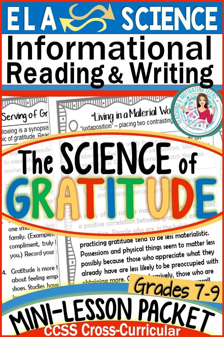Science Of Gratitude November Thanksgiving Nonfiction Mini