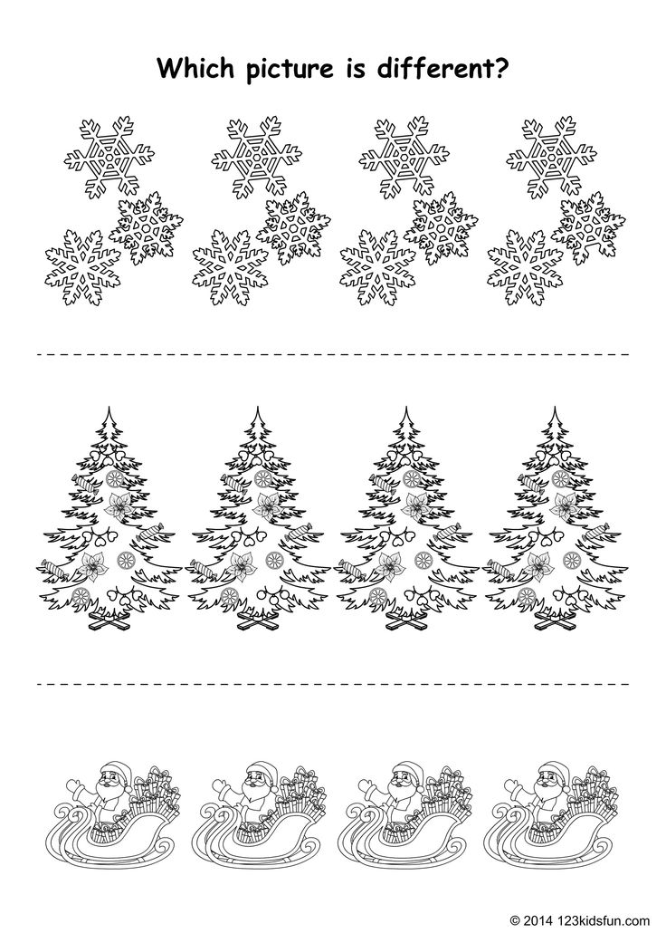 Spot the differences.  http://123kidsfun.com/christmas/  #christmas #free #printables
