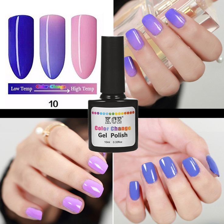 NEW 18 Colors  KCE  Fashion Women Free Shipping Nail  Polish Temperature Change Nail Color UV Gel for Nail Soak Off Gel Polish