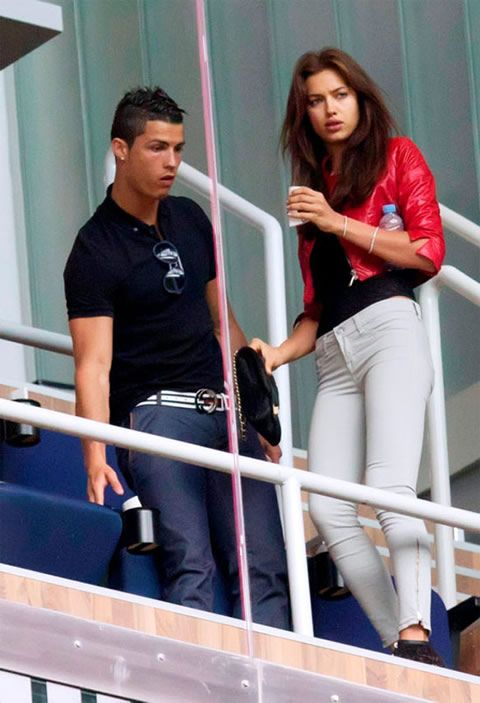 Cristiano Ronaldo fashion with irina shayk in the stadium