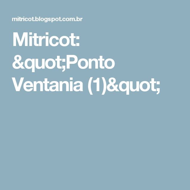 "Mitricot: ""Ponto Ventania (1)"""
