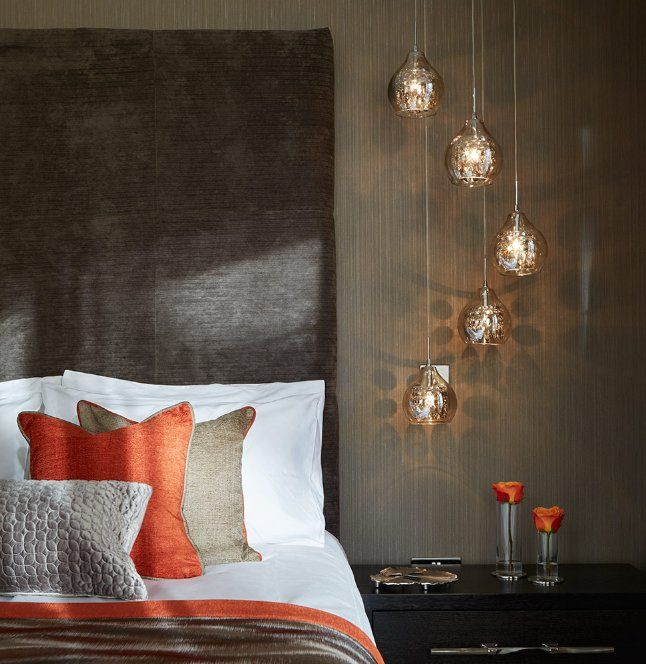 Via Amara Living | Bronze, White and Tangerine Bedroom | Orange Bedroom | Brown Bedroom | #Bronze | #OrangeBedroom | #BrownBedroom