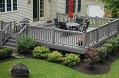 Deck landscaping #PinMyDreamBackyard                                                                                                                                                      More