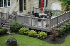 Deck landscaping #PinMyDreamBackyard                                                                                                                                                      More