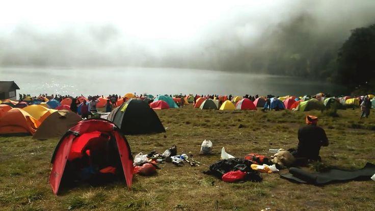 "Timelapse OPPO A37 "" Morning Fog Ranu Kumbolo Semeru Mountain "" Indonesia"