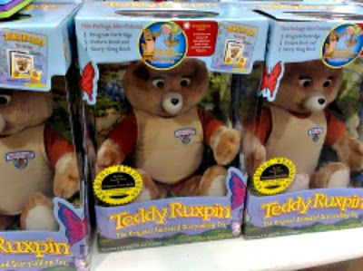 Teddy Ruxpin is a sing along, read along, tag along companion Teddy bear.  Our children love and treasure their Teddy Ruxpin bears.