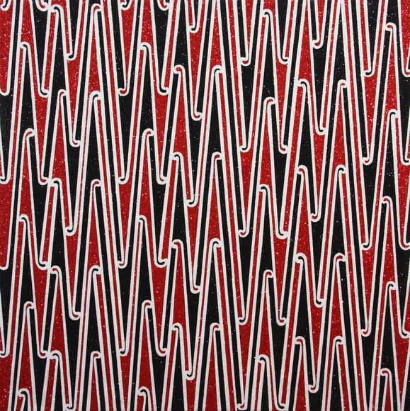 Reuben Paterson - Untitled (Large Red Kowhaiwhai) (2009)