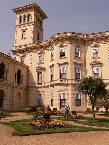 Osborne House on the Isle of Wight, England. Designed by Prince Albert to resemble an Italian palazzo it was  favorite residence of Victoria & Albert.