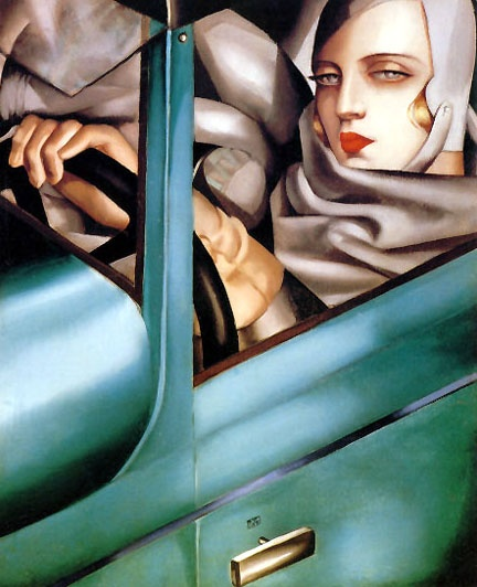 Tamara de Lempicka  Tamara in the Green Bugatti, 1925