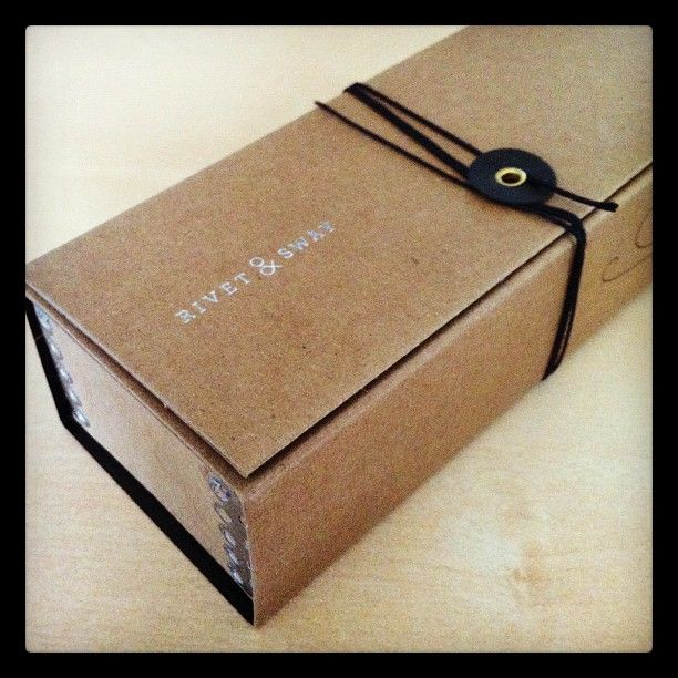 Awesome recycled cardboard packaging for my new glasses from Seattle startup Rivet + Sway.