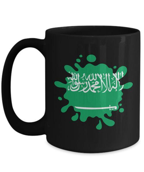 Shirt White Super PANAMA Hearts Saudi Arabia Patriot Flag Coffee Mug 15oz Black