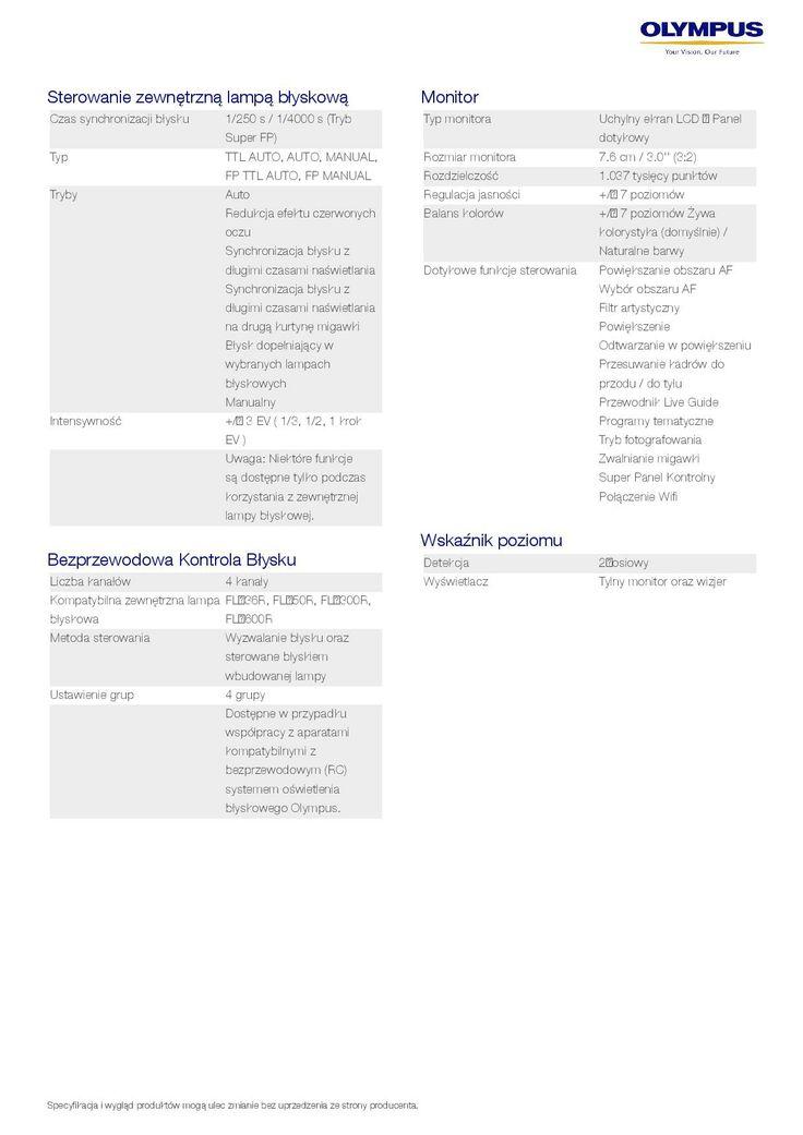 Olympus OM-D E-M10 - specyfikacja 6/9