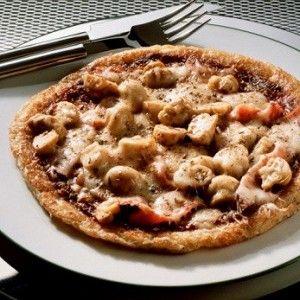 Грибная пицца с чоризо