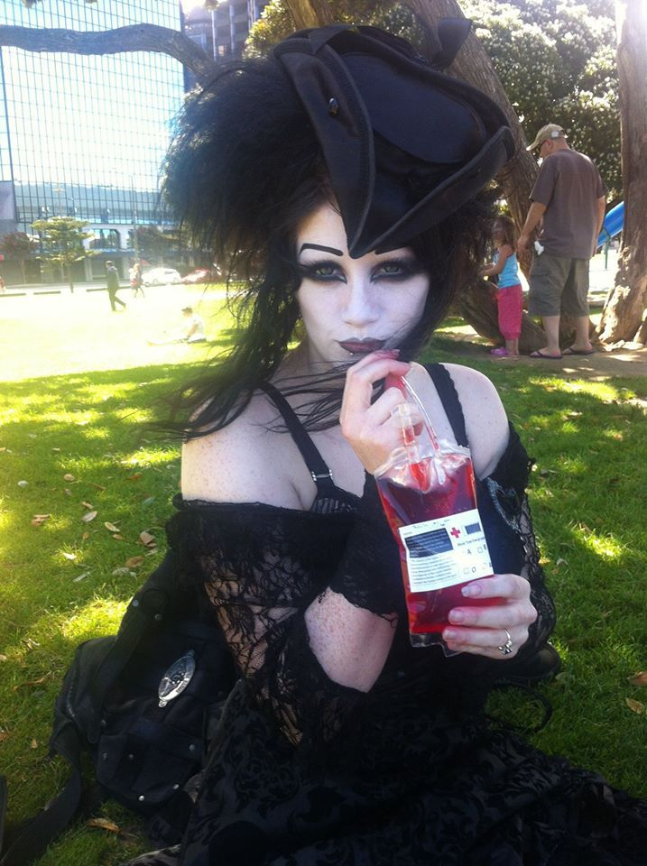 Lovely Miss Black Friday Picnic time! A vampire's gotta eat too, you know.