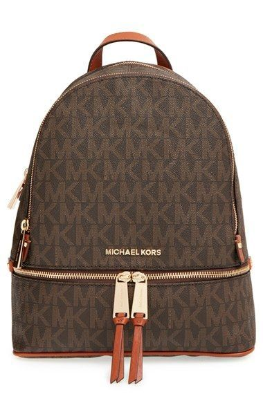 ab7035d241f62 MICHAEL Michael Kors  Small Rhea Zip  Leather Backpack CLICK Visit link  above to see more