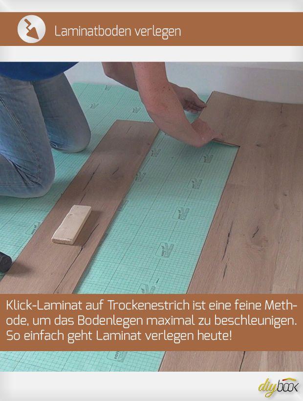 Laminatboden Verlegen Klick Laminat Auf Trockenestrich Anleitung Diybook At Laminatboden Laminatboden Verlegen Laminat