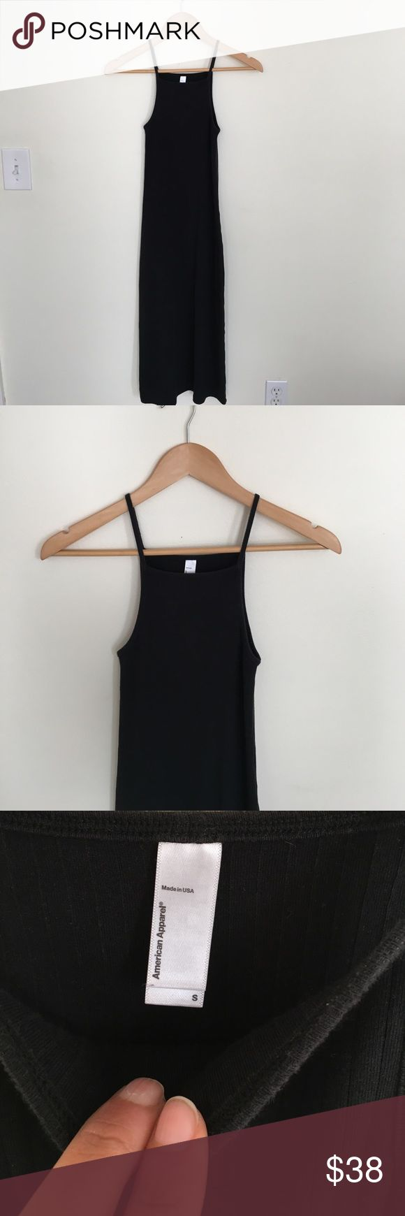 Ribbed Tank Maxi Dress Ribbed Cotton American Apparel Dresses Maxi