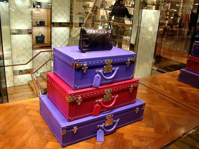 #LouisVuitton #trunks at Galeries Lafayette, Paris