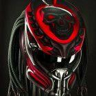 ghost Alien Predator Helmet Custom