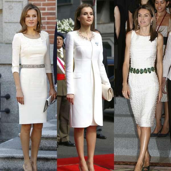 Los mejores looks en blanco de la Reina Letizia