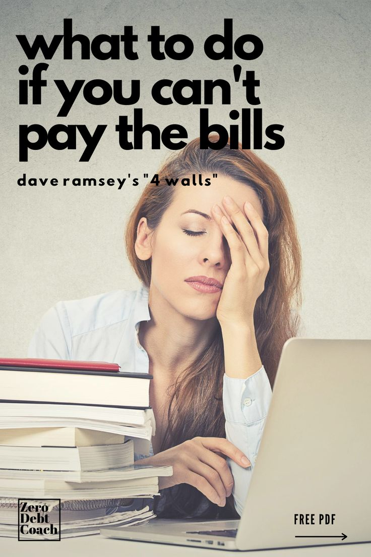 Dave ramseys 4 walls for when you cant pay personal