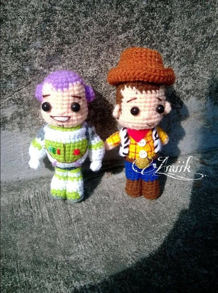 Buzz & Woody from Toystory amigurumi