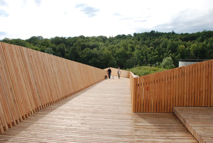 Gallery of La Sallaz Footbridge / 2b architectes - 10