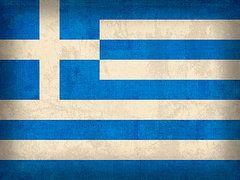 Greece Flag Art - Greece Flag Vintage Distressed Finish by Design Turnpike