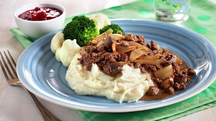 Millionbøf er en dansk gryte med kjøttdeig og er veldig barnevennlig. Denne retten kan serveres med poteter, potetmos, pasta eller ris. Navnet kommer av at kjøttet under steking deles i mange små stykker.