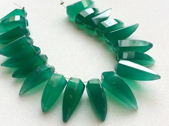 WHOLESALE 10 Pcs Green Chalcedony Beads Green by gemsforjewels