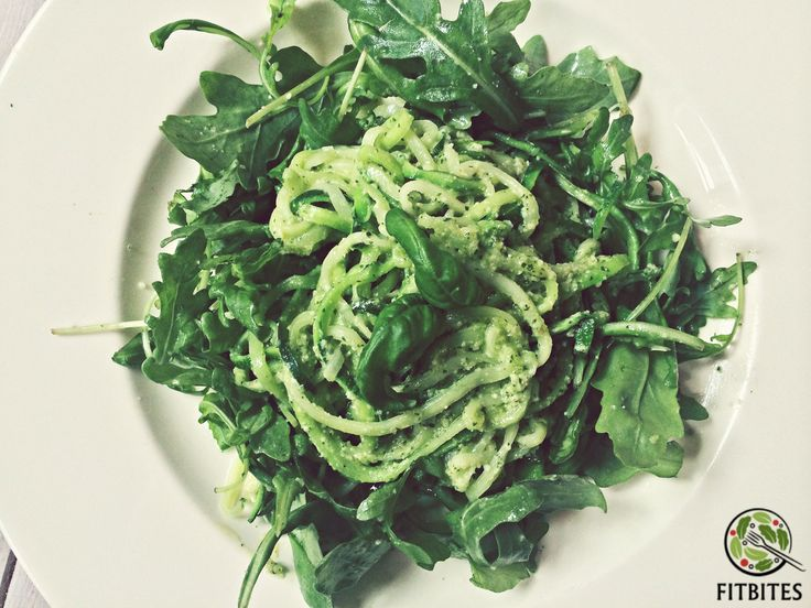 Forget about carb loaded pasta. Zucchini pasta is the bomb!  With home-made basil pesto and rucola...  Curious? http://bit.ly/zucchilitious  #eatforabs #healthyfoodideas #healthylifestyle #foodisfuel #cleaneats #absaremadeinthekitchen #healthyinspiration #strongnotskinny #eathealthy #fitness #healthysnack #healthyfoodshare #instafit #motivation #weightloss #fitnessgirls #glutenfree #nocarbs #spiralslicer #zucchini #pesto #vegetarian