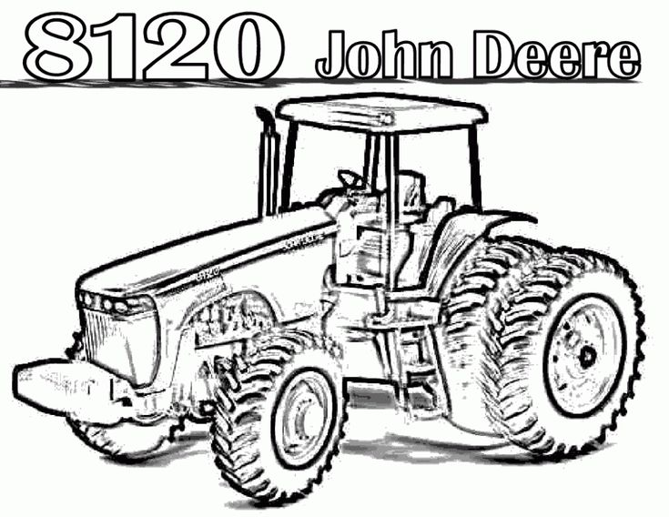 Tractor Colouring In Pages John Deere : 17 best tracteur images on pinterest