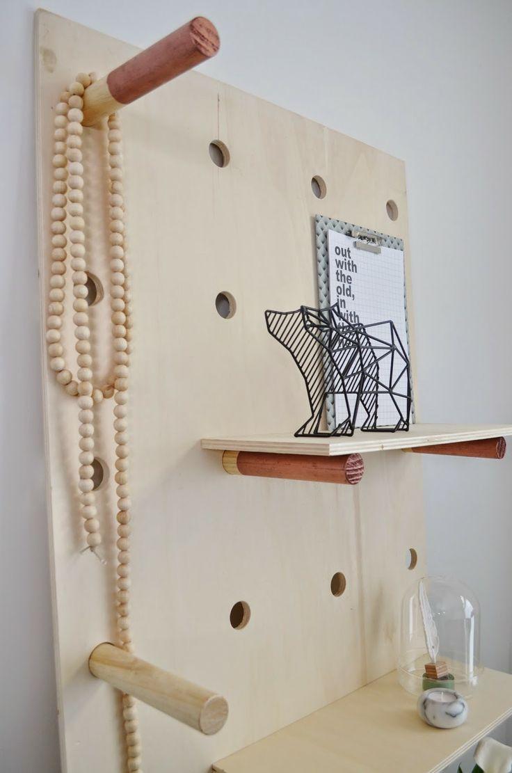 Cute DIY shelf for jewelry & knickknacks