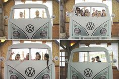 """Photobooth: different and fun! My mind is swirling with different """"walls"""" to stand behind, one with open faces, maybe a canoe, i still like the empty picture frames"""