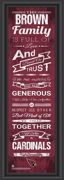 Use the code PINFIVE to receive an additional 5% discount off the price of the Arizona Cardinals NFL Personalized Family Cheer Print at SportsFansPlus.com