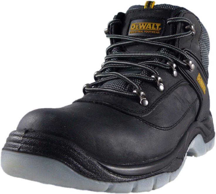 DeWalt Laser Steel Toe Safety Work Boot - Size UK 6 - 12 Black