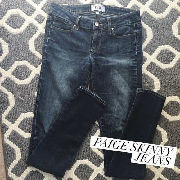 ONE DAY SALE Paige Skinny Jeans Pretty good condition / size 26 Paige Jeans Jeans Skinny