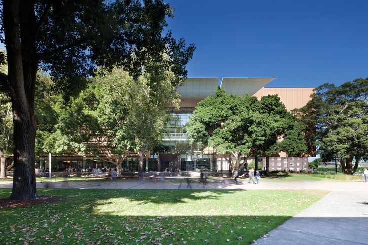 North elevation (hiding in the trees), Tyree Building, UNSW Australia