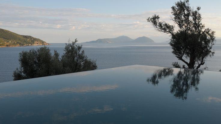 Vakantievilla met zwembad, Griekenland. Ontwerp van BNLA architecten