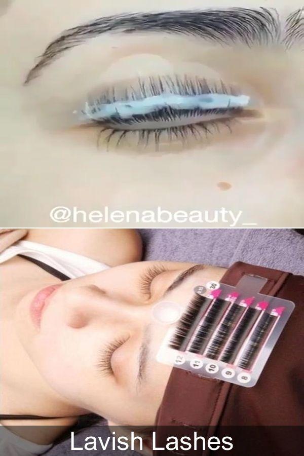 Individual Fake Eyelashes   Semi Permanent Eyelash ...