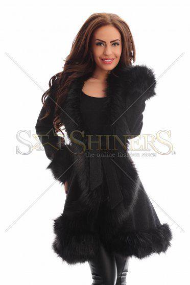 Ana Radu Warm Fashion Black Coat