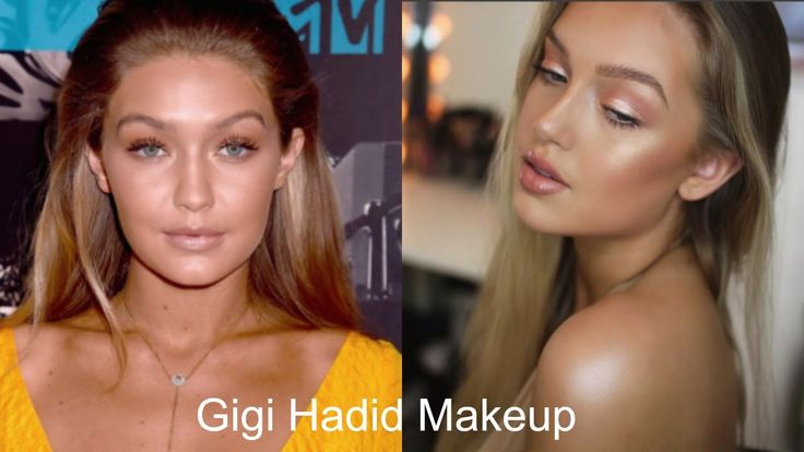 Gigi Hadid Makeup Tutorial Today I'm doing a Gigi Hadid inspired look which is super natural, glowy very bronzed. I used a lot of products to make this look and I'll let you know if they're optional or not. Not to be mistaken, I used a lot of products but not a lot of makeup.