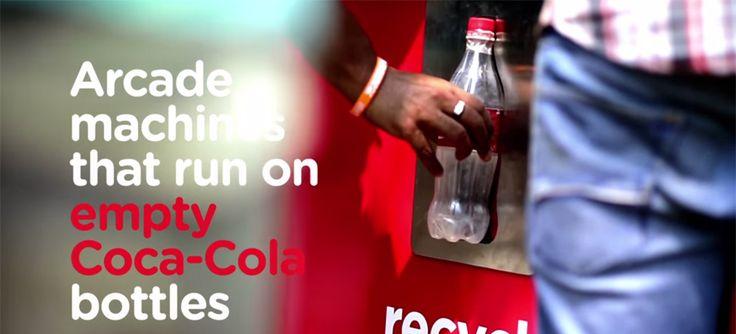 Coca-Cola lance une borne de jeu d'arcade qui fonctionne grâce à des bouteilles vides