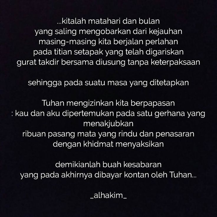 "64 Likes, 1 Comments - رحمناالحكيم (@alhakimrahman) on Instagram: ""‌#poetry#poem#lovepoetry#lovepoem#puisi#baitpuisi#puisicinta#puisimalam#penulis#penulispuisi#bacapuisi#syair#sajak#sajakrindu#penyair#pujangga#katapujangga#puitis#katapuitis#romantic#romanticpoetry#puisipendek#matapena"""