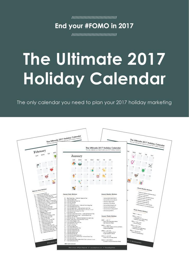 38 best Marketing Calendar images on Pinterest Calendar 2017 - steps for creating a grant calendar