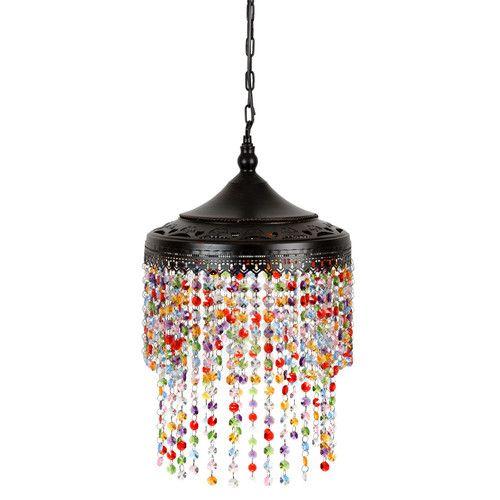Lámpara de araña de plástico acrílico Diám. 23 cm CONFETTI