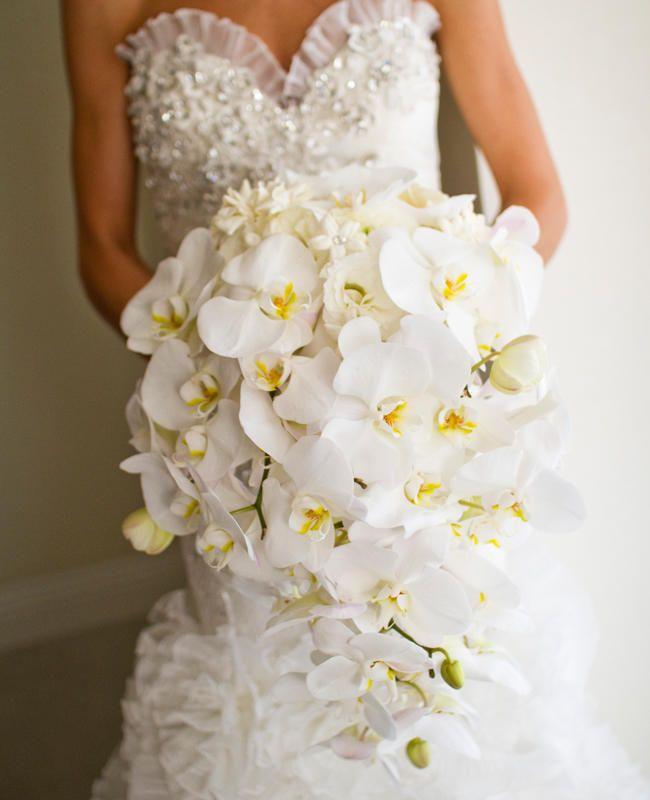 Buquê de noiva em cascata de orquídeas. Foto: Embrace Life Photography.