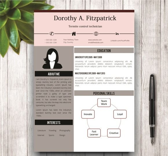 find this pin and more on cv resume templates in ms word - Resume Templates Microsoft