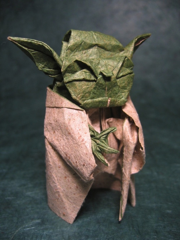 how to make an origami yoda finger puppet