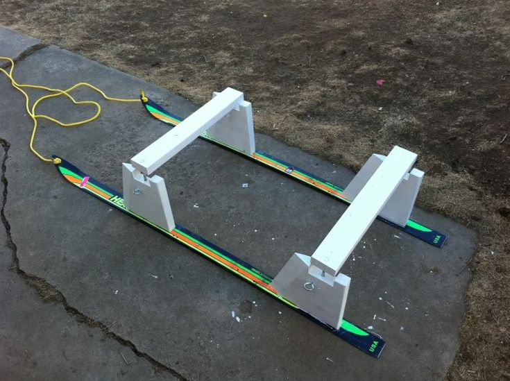 how to build a toboggan sled